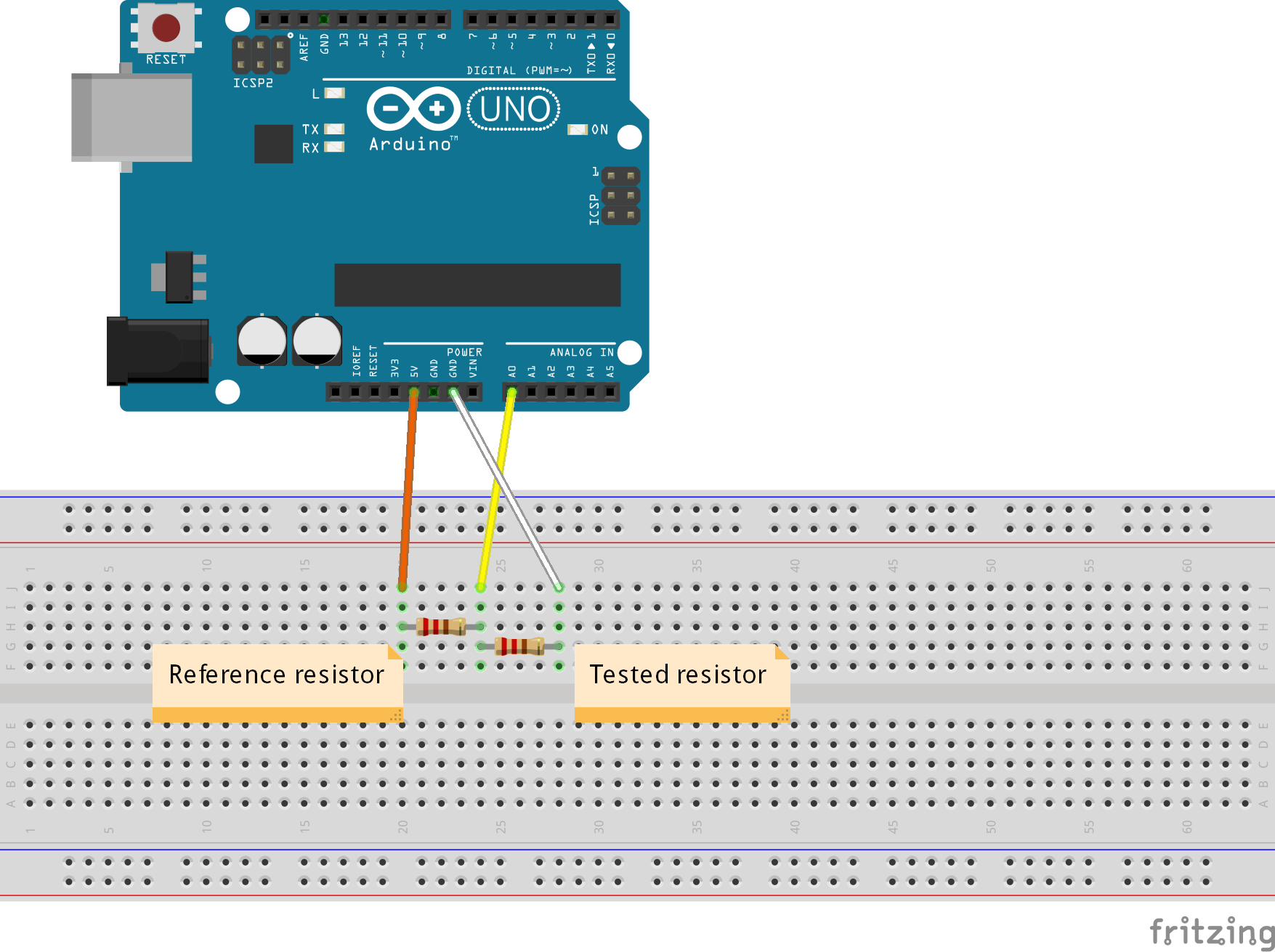 Simple Ohmmeter Circuit : Electronfun project
